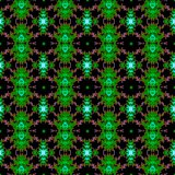 Seamless fractal pattern in a green colors