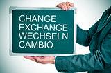 change, exchange, wechseln, cambio