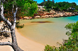 Cala Calafato beach in Ametlla de Mar, Spain