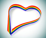 heart-shaped rainbow ribbon