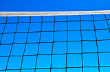 Volleyball net against  of blue sky