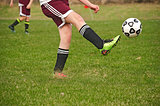 soccer player kicker a ball