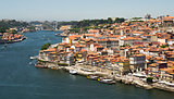 Porto old town with Douro river