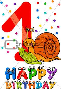 first birthday cartoon design