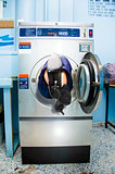 Cleaning Lady Trapped In Washing Machine