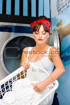 Woman Washing Clothes