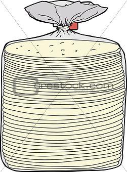 Bread in Plastic Wrap