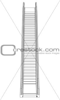 Sketch escalator. Wire frame render