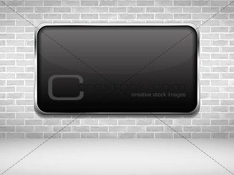 Black Frame on Brick Wall