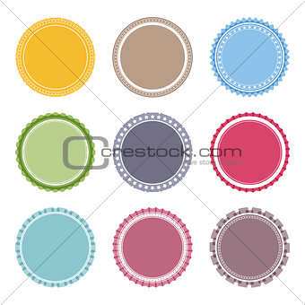 Blank Round Labels