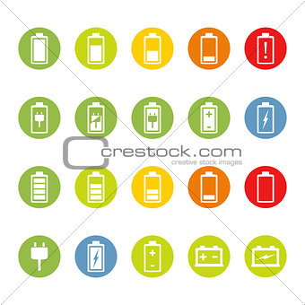 Battery and Accumulator Icons