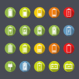 Battery Icons Flat Design