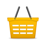 Orange Shopping Basket