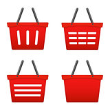 Red Shopping Basket Icons