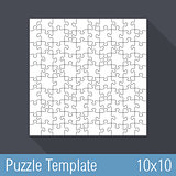 Puzzle Template 10x10