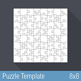 Puzzle Template 8x8