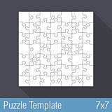 Puzzle Template 7x7