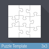 Puzzle Template 3x3