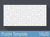 Puzzle Template 10x20