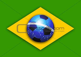 brazil soccer world cup flag