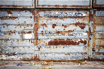 Old rusty metal wall