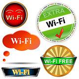 Wi fi logos set