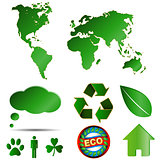 Big eco logos set