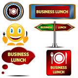Business lunch set
