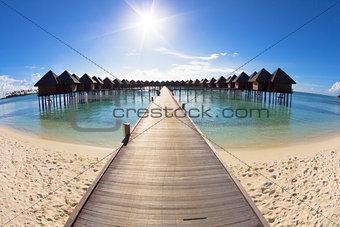 beautiful beach and water villa.maldives