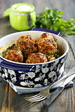Meatballs with cream sauce.