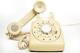 Old cream telephone