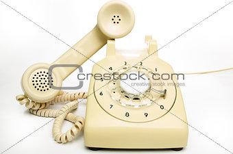 Old cream telephone