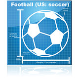 Soccer ball blueprint