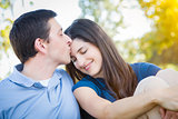 Young Attractive Couple Portrait in Park