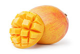 ripe yellow red mango