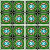 Seamless decorative pattern in a green colors