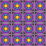 Seamless decorative pattern in a purple colors