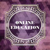Online Education Concept. Vintage design.
