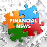 Financial News on Multicolor Puzzle.
