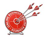 Online Business Concept - Hit Target.