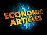 Economic Articles - Gold 3D Words.
