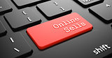 Online Sells on Red Keyboard Button.