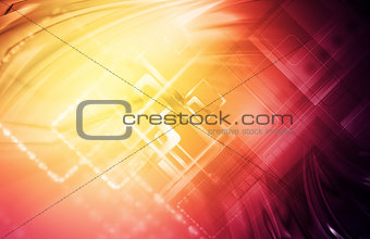Abstract hi-tech bright background