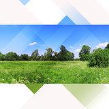 Landscape nature hi-tech collage