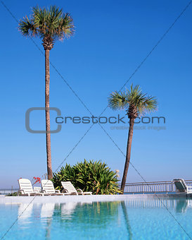 A swimming pool in Daytona Beach, Florida