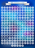 200 universal icons set