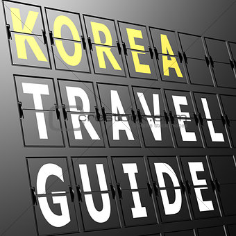 Airport display Korea travel guide