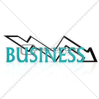 Business down arrow