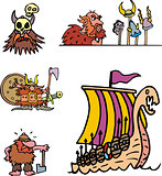 Miscellaneous viking cartoons
