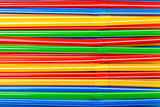 Background of Colored Plastic Drinking Straws